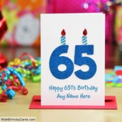 Beautiful Handmade 65th Birthday Cards With Name