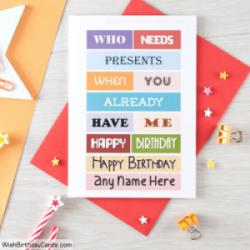 Best Funny Birthday Cards With Name