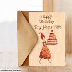 Birthday Celebration Cards With Your Mom Name