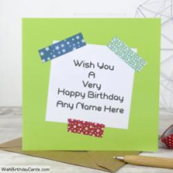 Birthday Greetings Cards For Men With Name