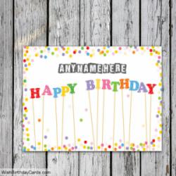 Colorful Free Happy Birthday Cards With Name