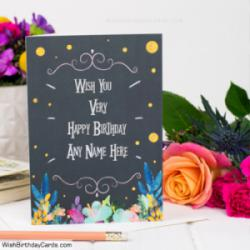 Decorated Birthday Cards For Men With Name