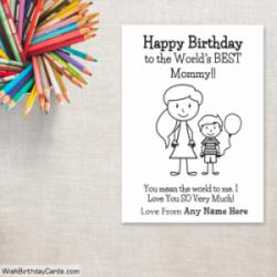Happy Birthday Cards For Mom With Son Name