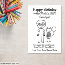Happy Birthday Grandpa Cards For Boys With Name