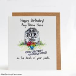 RIP Funny Birthday Wish Cards With Name