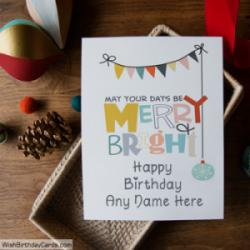 Special Printable Birthday Card Wish With Name