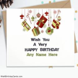 Wish You A Very Happy Birthday Sister With Name Cards