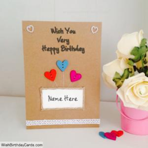 Amazing Handmade Birthday Cards With Name