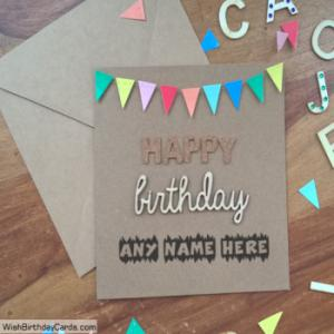 Awesome Handmade Birthday Cards With Name