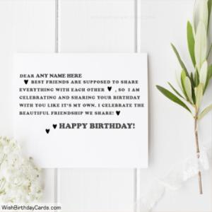 Best Friends Birthday Cards Wishes With Name
