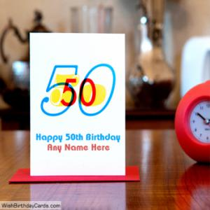 Best Handmade 50th Birthday Cards With Name