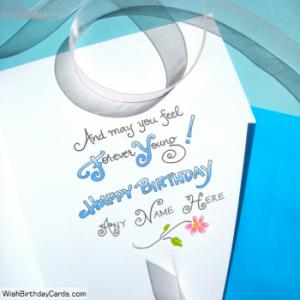 Forever Young Birthday Cards For Boys With Name