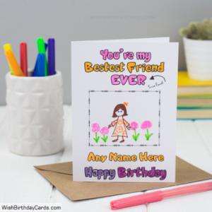 Free Handmade Birthday Cards For Best Friends With Name