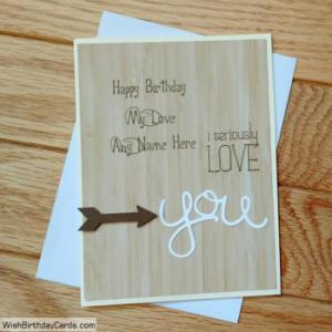 Handmade Birthday Cards For Lover With Name