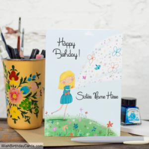 Handmade Birthday Cards For Sister With Name