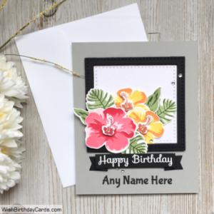 Handmade Printable Birthday Cards With Name