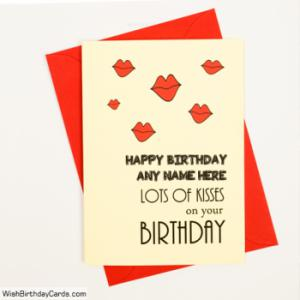 Romantic Handmade Birthday Cards For Lover With Name