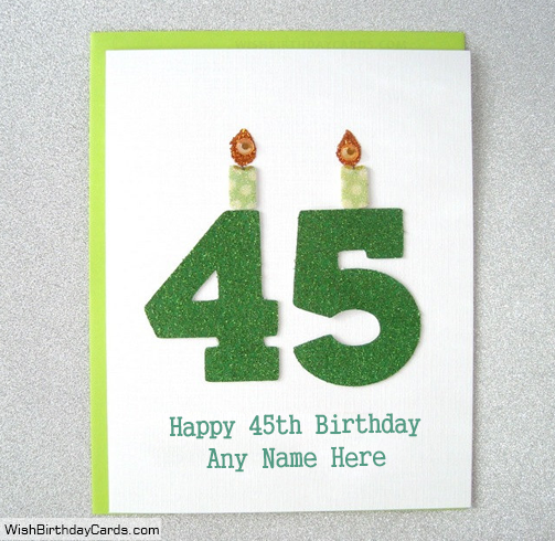 45th Free Birthday Cards With Name