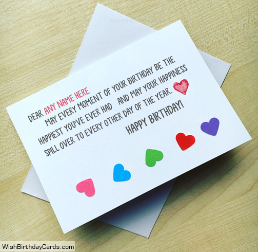 Awesome Happy Birthday Handmade Cards With Name
