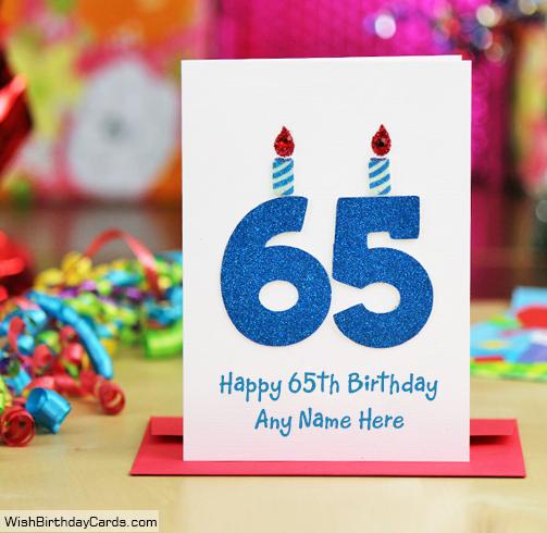Beautiful Handmade 65th Birthday Cards With Name