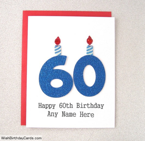 Cool Free 60th Birthday Cards With Name