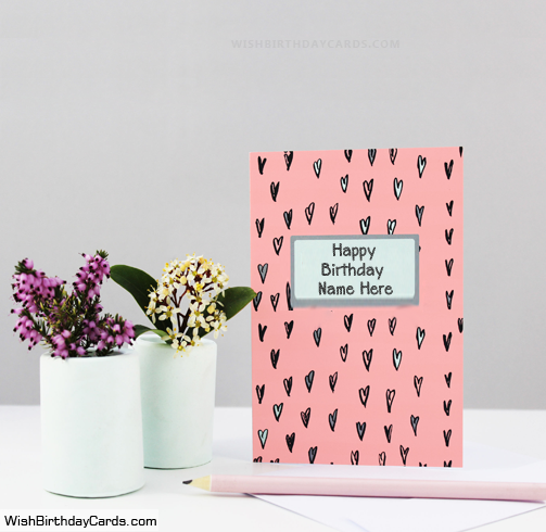 Free Happy Birthday Cards For Sister With Her Name