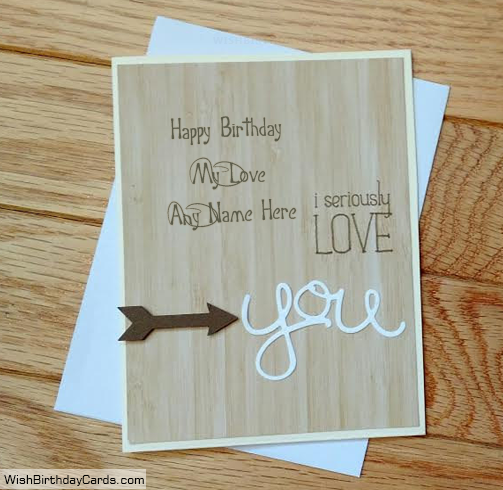 Birthday Cards For Lover With Name – Handmade Birthday Card for Lover