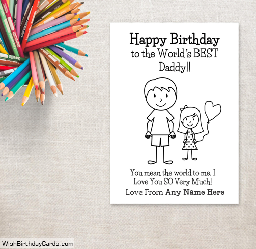 Birthday cards for dad with daughter name happy birthday cards for dad with daughter name bookmarktalkfo Images
