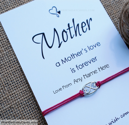 Love Forever Happy Birthday Cards For Mom With Name
