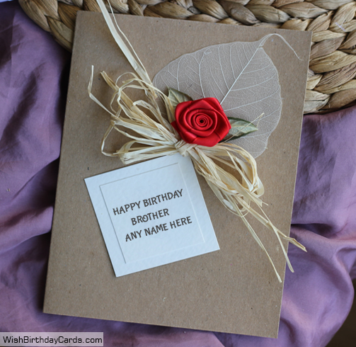 Red rose birthday cards for brother with name m4hsunfo