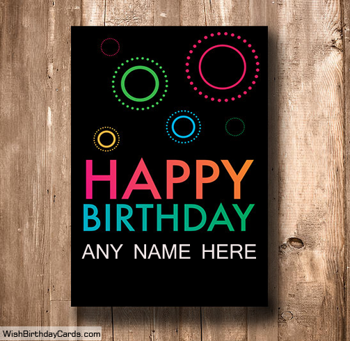 Simple Happy Birthday Cards Online With Name