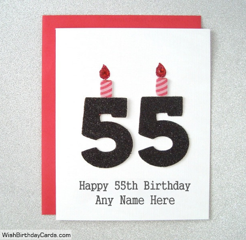 Special 55th Birthday Cards With Name