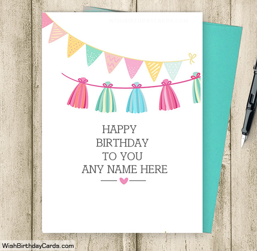 100 free birthday cards with name online greeting cards