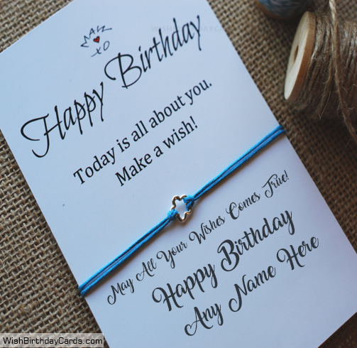 Wishing Happy Birthday Cards For Men With Name