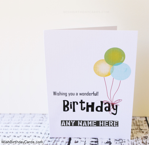 Wishing You A Birthday Cards With Name